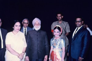 Govenor Sardar Ujjal Singh and his wife with Mathura. Also in the picture is Mr.s S. Narayanaswami and Mr. Maruthai Pillai.