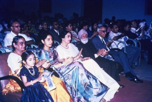 Sardar Ujjal Singh and other guests appreciating the performance.